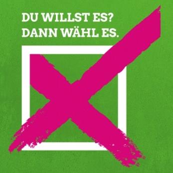Spende uns ein Wahlplakat zur Bundestagswahl!
