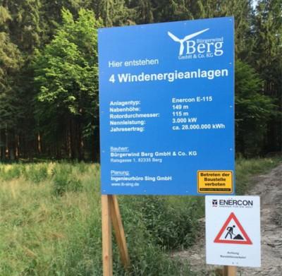 Windenergieanlagen in Berg/Landkreis Starnberg