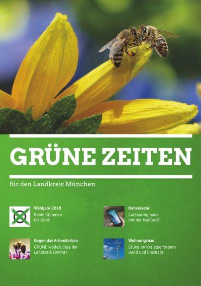 Titelblatt der GRÜNEN ZEITEN 1-2018