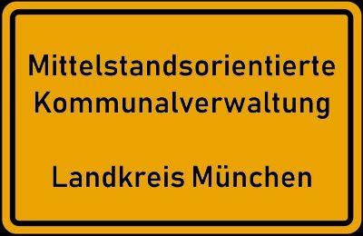 Ortsschild: Mittelstandsorientierte Kommunalverwaltung