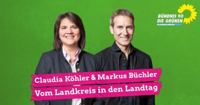 Landtagsabgeordnete Claudia Köhler und Markus Büchler