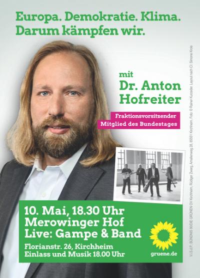 Plakat mit Toni Hofreiter
