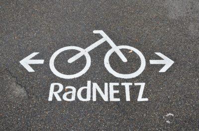 Bodenmarkierung Radnetz