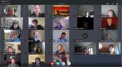 Screenshot Fraktions-Videokonferenz