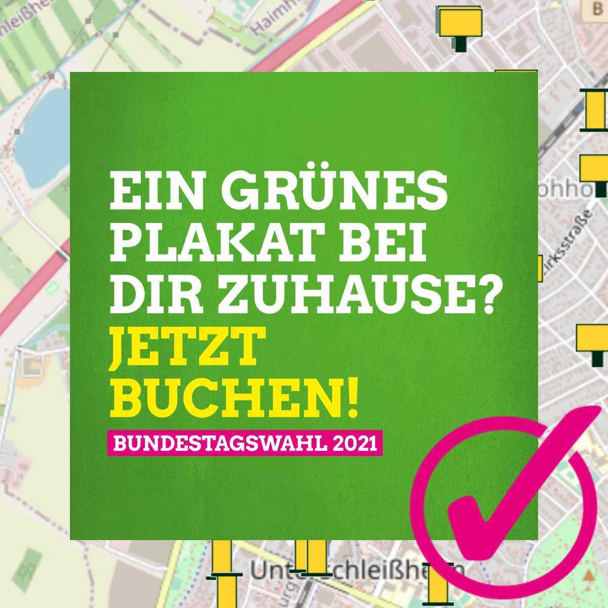Plakatspende zur Bundestagswahl 2021: Jetzt buchen!